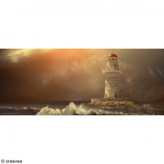 Image 3D Paysage - Phare Sépia - 20 x 50 cm