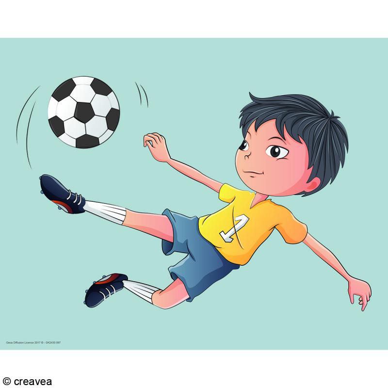 Image 3D Enfant - Foot - 24 x 30 cm - Photo n°1