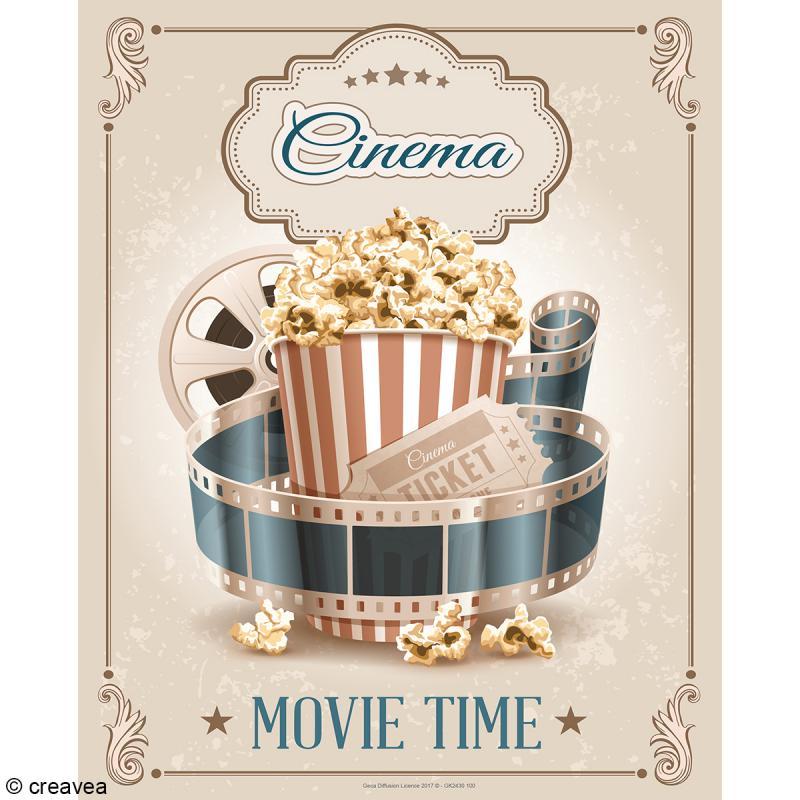 Image 3D Divers - Cinéma vintage - 24 x 30 cm - Photo n°1