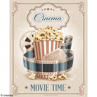 Image 3D Divers - Cinéma vintage - 24 x 30 cm
