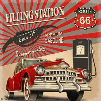 Image 3D Vintage - Route 66 - 30 x 30 cm