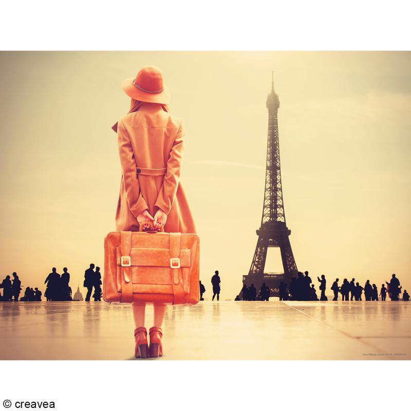 Image 3D Femme - Doux Paris Sépia - 30 x 40 cm - Photo n°1