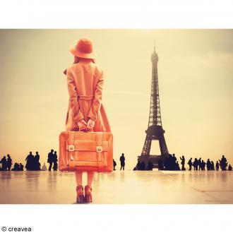 Image 3D Femme - Doux Paris Sépia - 30 x 40 cm