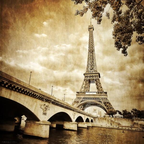Image 3D Paysage - Paris vintage - 40 x 40 cm - Photo n°1