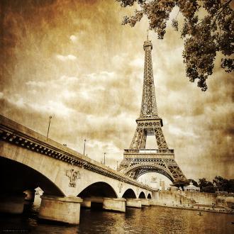 Image 3D Paysage - Paris vintage - 40 x 40 cm