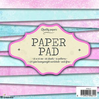 Bloc papier Scrapbooking - Pastel - 15 x 15 cm - 36 feuilles