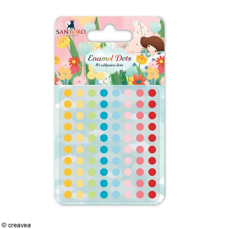 Demi perles adhésives rondes 5 mm - Assortiment Multicolore - 80 pcs - Photo n°1