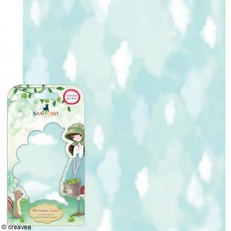 Papier décoratif Nuages - 3 feuilles Papier Patch de 35 x 40 cm