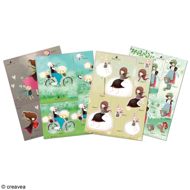 Kit carte 3D A5 Gorjuss - 8 Feuilles - Photo n°1