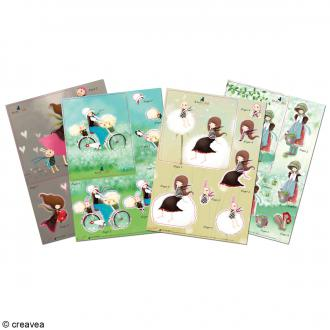Kit carte 3D A5 Gorjuss - 8 Feuilles