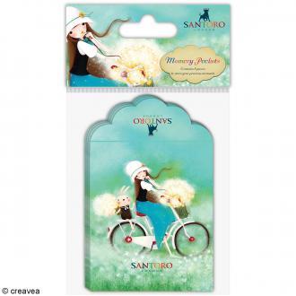 Mini pochettes souvenirs - 7,5 x 9 cm - 8 pcs