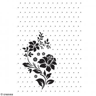 Classeur d'embossage Fleur et Pois - A6