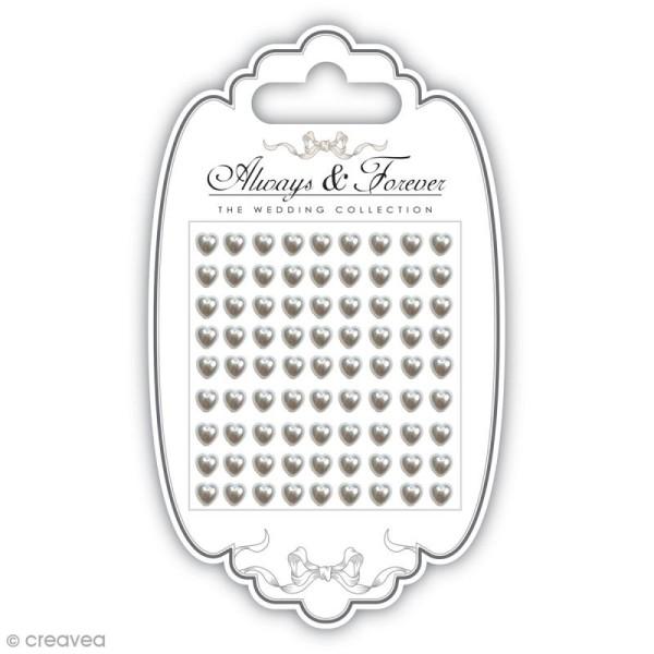 Strass perles Coeurs 5 mm - 81 pcs - Photo n°1