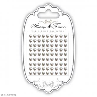 Strass perles Coeurs 5 mm - 81 pcs