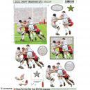 Carte 3D pré-découpée - Match de rugby - 21 x 29,7 cm