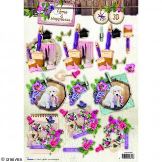Carte 3D pré-découpée - Happiness Arts - 21 x 29,7 cm