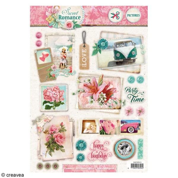 Carte 3D pré-découpée - Sweet romance 03 - 21 x 29,7 cm - Photo n°1
