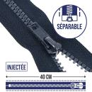 Fermeture injectée séparable n°5 - 40 cm - Photo n°1