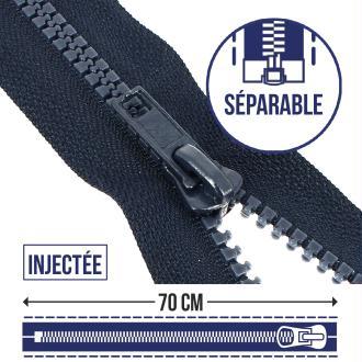Fermeture injectée séparable n°5 - 70 cm