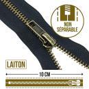 Fermeture laiton non séparable - 10 cm - Photo n°1