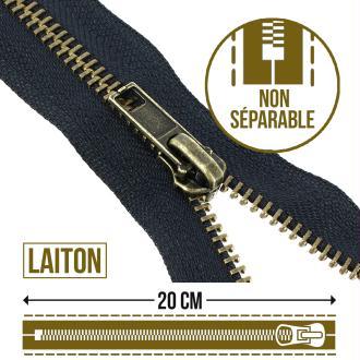 Fermeture laiton non séparable - 20 cm