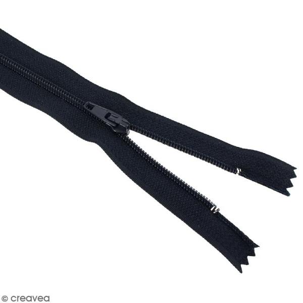 Fermeture fine nylon non séparable - 25 cm - Plusieurs couleurs - Photo n°2