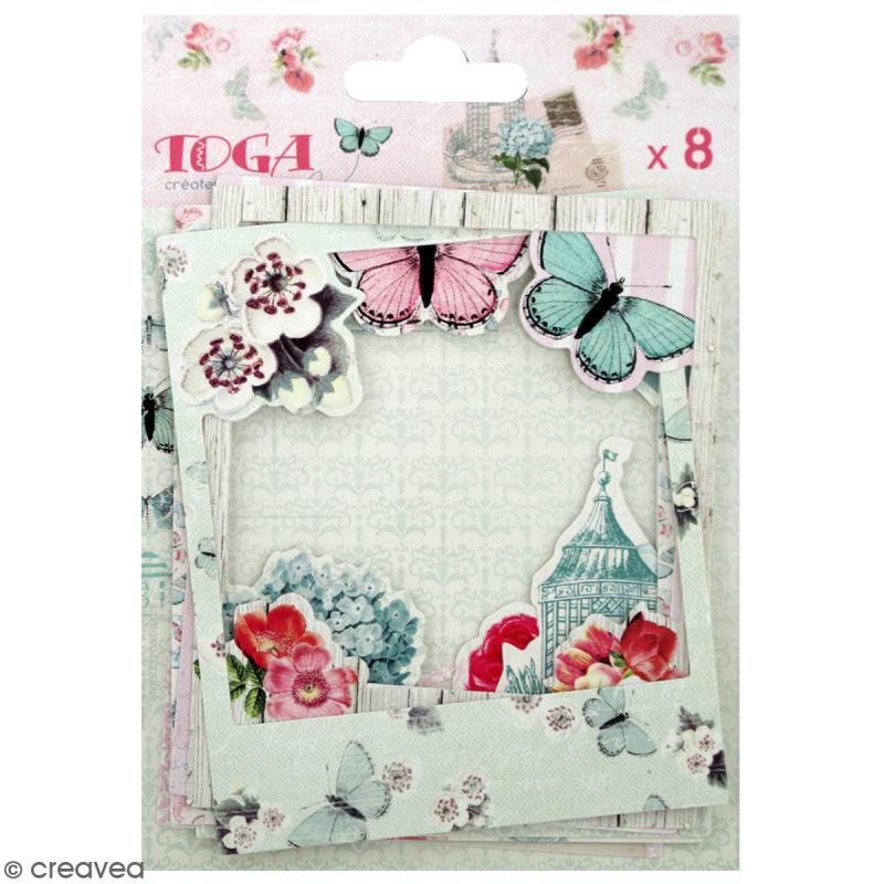 Cadres polaroid - Fleurs et Papillons - 8,8 x 10,7 cm - 8 pcs - Photo n°1