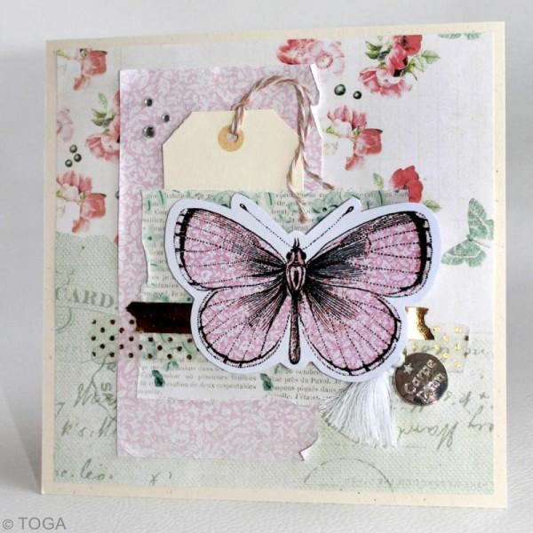 Chipboards imprimés en carton - Papillons - 20 formes - Photo n°3
