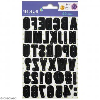Dies Toga Cut It All - Alphabet Majuscule -  42 dies