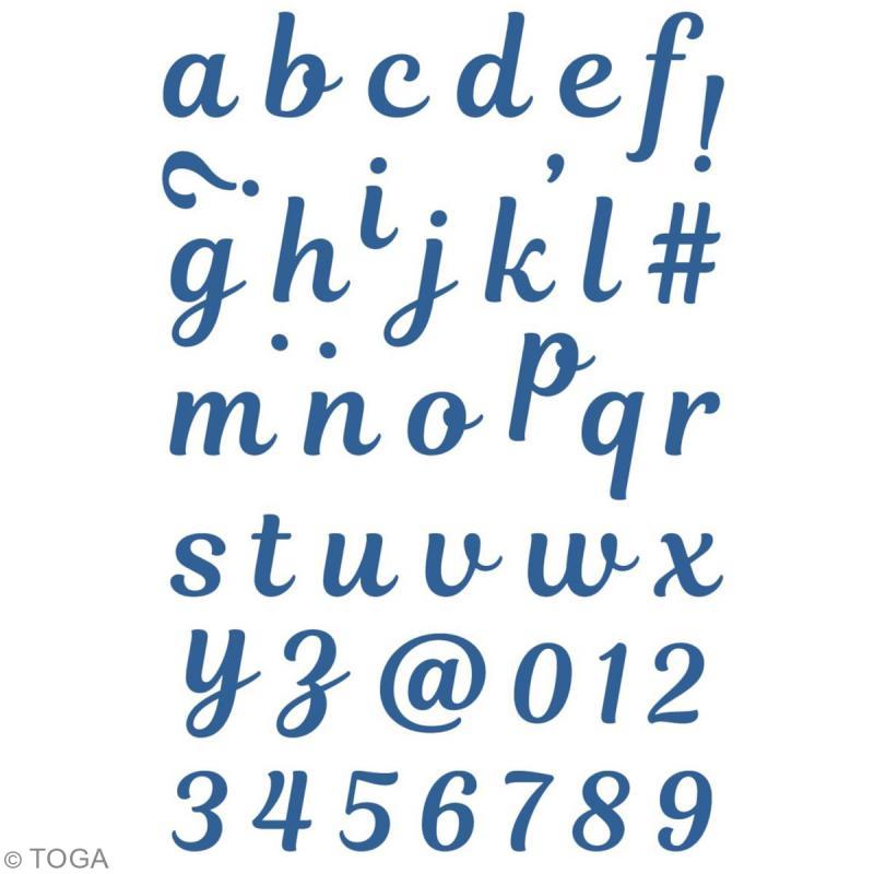 Dies Toga Cut It All - Alphabet Minuscule - 42 dies - Photo n°2
