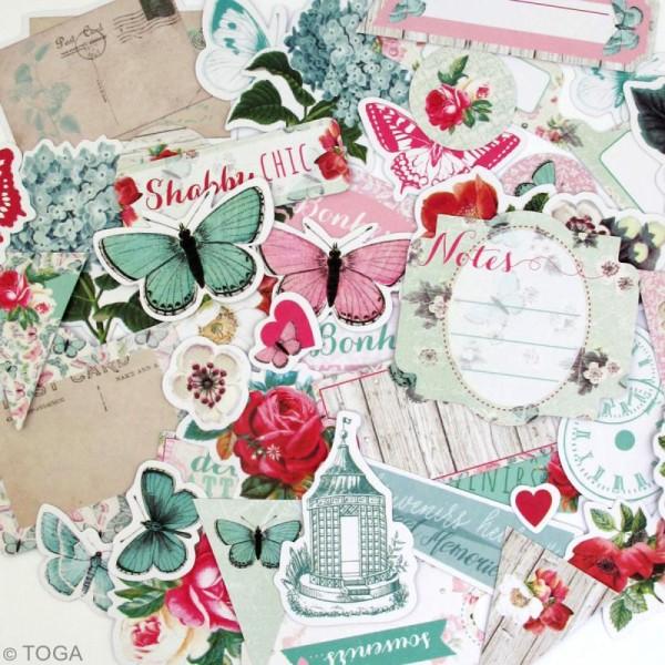 Die cut - Fleurs et Papillons - 44 formes en papier - Photo n°3