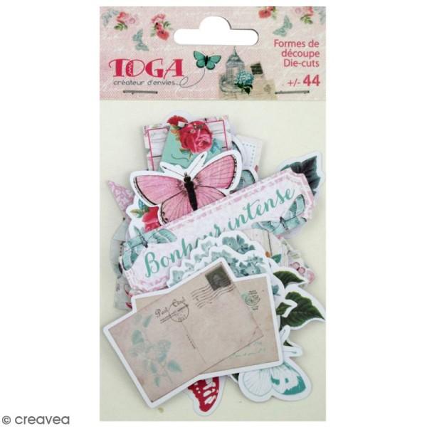 Die cut - Fleurs et Papillons - 44 formes en papier - Photo n°1