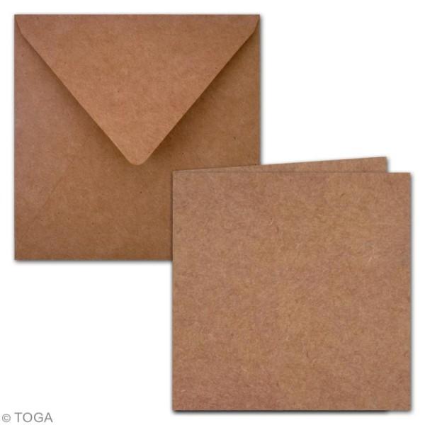 Cartes Doubles avec enveloppes - 15 x 15 cm - 5 pcs - Photo n°2