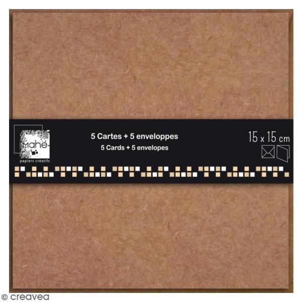 Cartes Doubles avec enveloppes - 15 x 15 cm - 5 pcs - Photo n°1