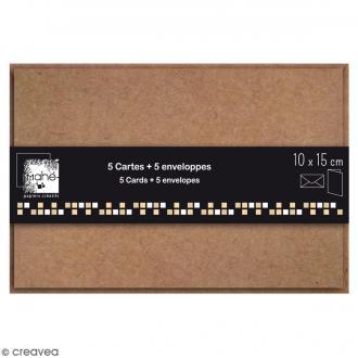 Cartes Doubles avec enveloppes - 10 x 15 cm - 5 pcs