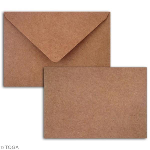 Cartes Simples avec enveloppes - 13 x 9 cm - 5 pcs - Photo n°2