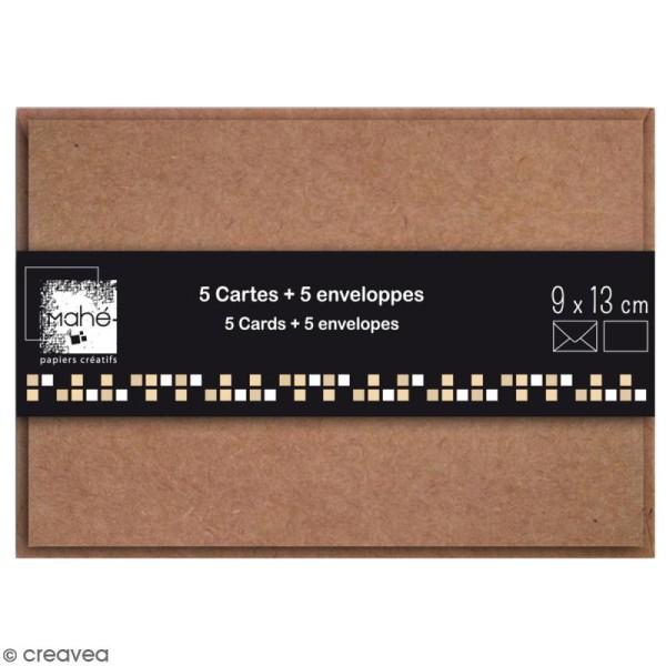 Cartes Simples avec enveloppes - 13 x 9 cm - 5 pcs - Photo n°1