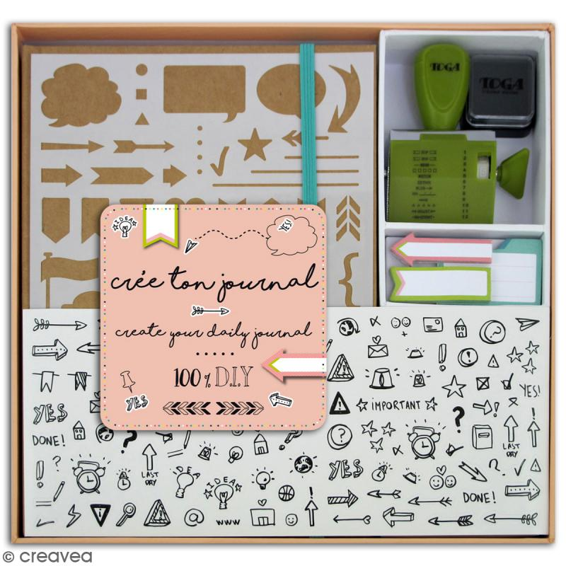 Kit complet bullet journal diy carnet scrapbooking creavea - Materiel de scrapbooking pas cher ...