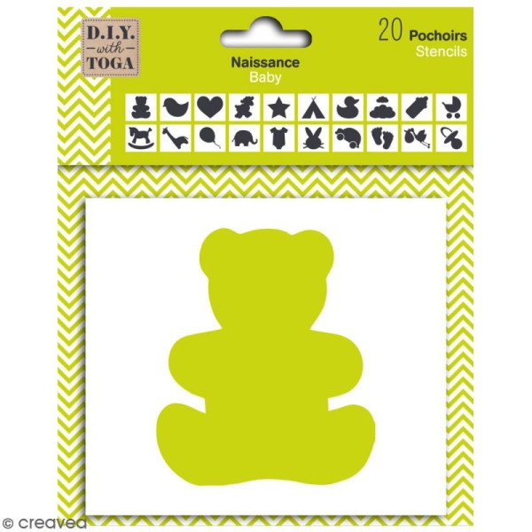 Pochoirs Toga - Naissance - 9 cm - 20 pcs - Photo n°1