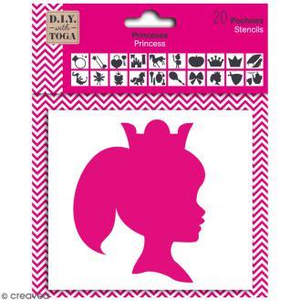 Pochoirs Toga - Princesse - 10 cm - 20 pcs