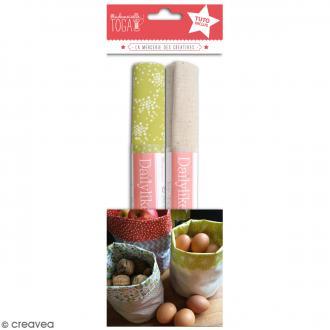 Kit Pochon en coton enduit avec tuto - Lin & Vert