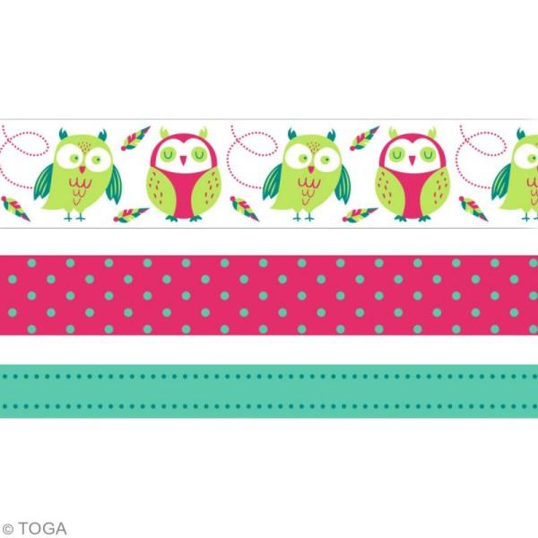 Masking tape Toga - Hiboux - 3 rouleaux de 5m - Photo n°3