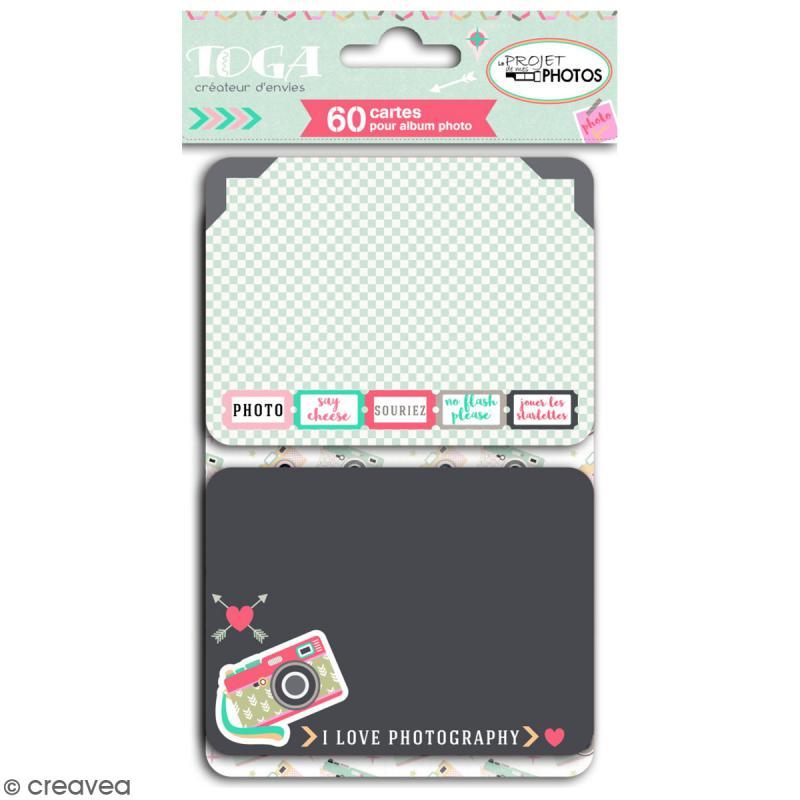 Cartes pour album photo Project Life - Clic Clac - 60 pcs - Photo n°1