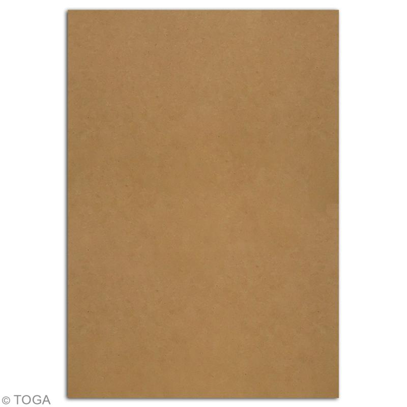 Papier scrapbooking Toga - Color Factory - Kraft - 24 feuilles en A4 - Photo n°2