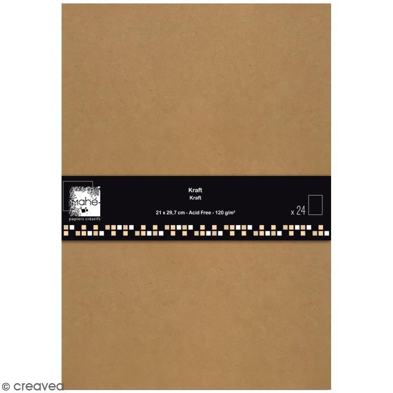 Papier scrapbooking Toga - Color Factory - Kraft - 24 feuilles en A4 - Photo n°1