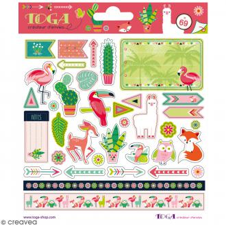 Stickers fantaisie Toga - Animaux - 69 pcs