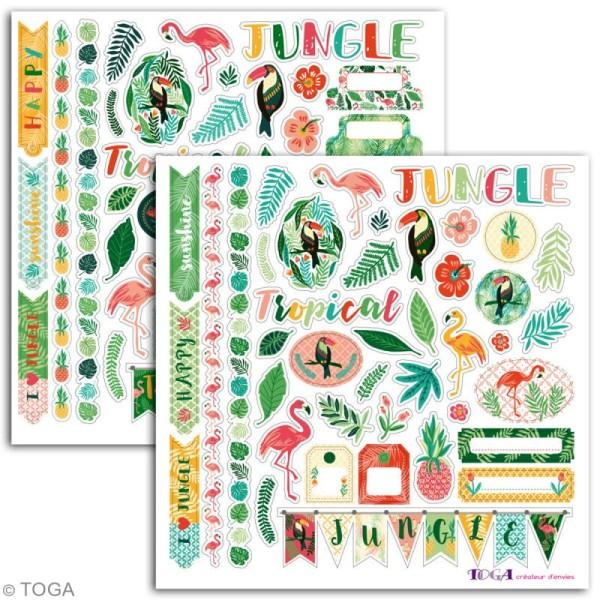 Stickers fantaisie Toga - Jungle - 80 pcs - Photo n°2