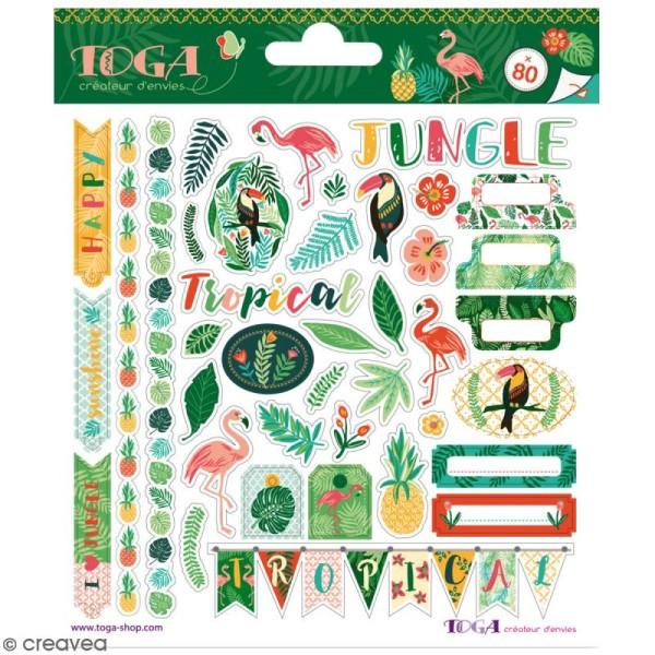 Stickers fantaisie Toga - Jungle - 80 pcs - Photo n°1
