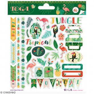 Stickers fantaisie Toga - Jungle - 80 pcs