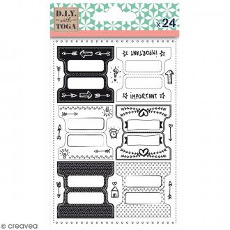 Stickers Onglets - Bullet Journal - 24 pcs